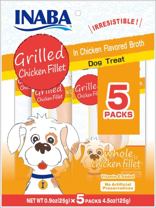 IB00752 Grilled Chicken Fillet Chicken Broth for Dogs - 5 Piece