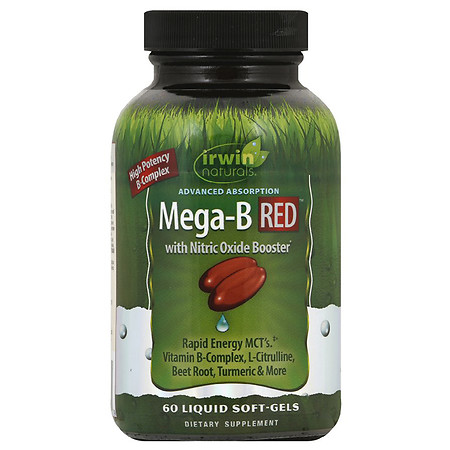 Irwin Naturals Advanced Absorption Mega B RED with Nitric Oxide Booster - 60.0 ea