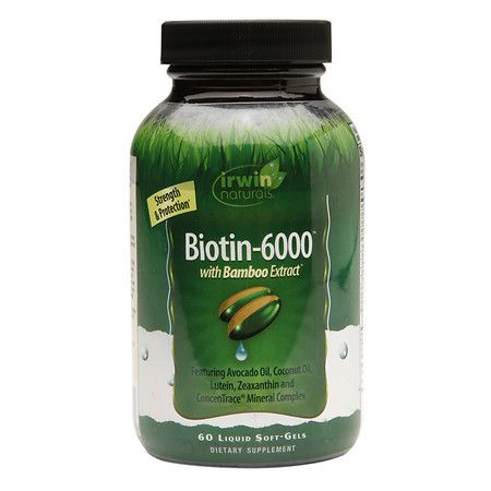 Irwin Naturals Biotin-6000 with Bamboo Extract, Softgels - 60.0 ea