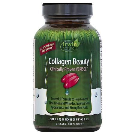 Irwin Naturals Collagen Beauty Liquid Soft-Gels - 80.0 ea