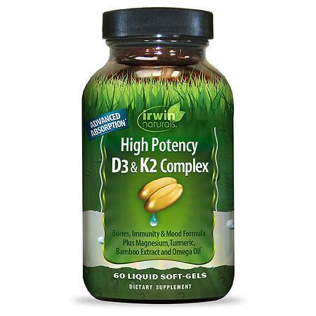 Irwin Naturals High Potency D3 & K2 Complex - 60.0 ea