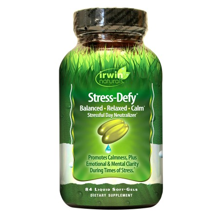 Irwin Naturals Stress-Defy Liquid Soft-Gels Stressful Day Neutralizer - 84.0 softgels