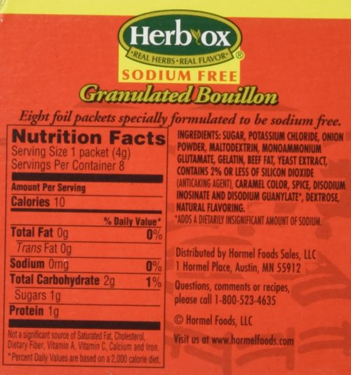 KHFM00067124 Sodium Free Granulated Beef Flavor Bouillon, 1.1 oz