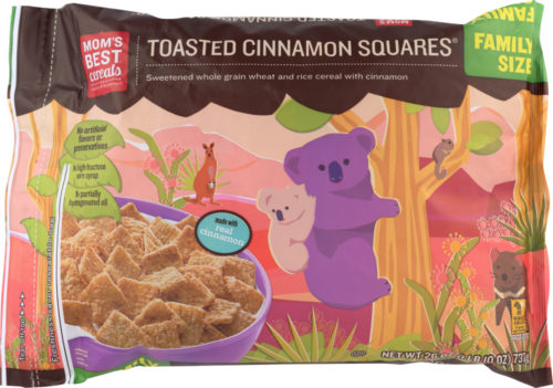 KHFM00296117 26 oz Toasted Cinnamon Squares Natural Cereal