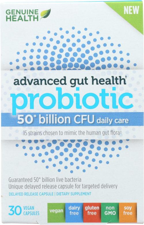 KHFM00335959 Advanced Gut Health Probiotic 50 Billion CFU Capsule - 30 Vegetarion Capsule