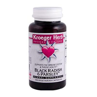 Kroeger Herb Black Radish and Parsley - 100 Capsules