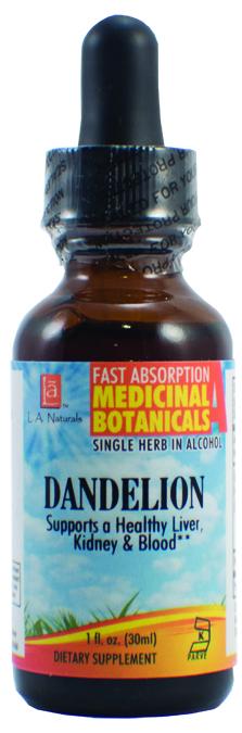 LA Naturals 1133981 1 oz Dandelion Organic Medical Liquid