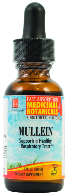 LA Naturals 1134291 1 oz Mullein Wildcraft for Supports a Healthy Respiratory Tract