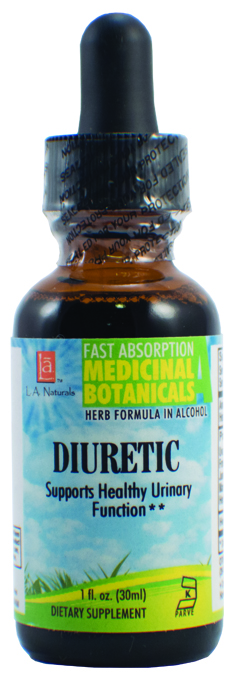 LA Naturals 1134731 1 oz Diuretic for Supports Healthy Urinary Function
