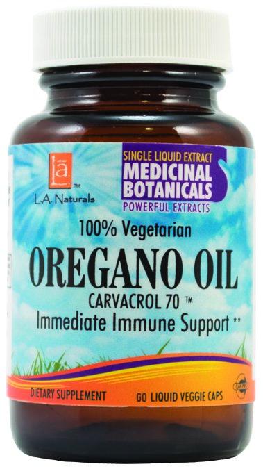 LA Naturals 1138381 Oregano Oil Veggie Cap 60 Vegetarian Capsules