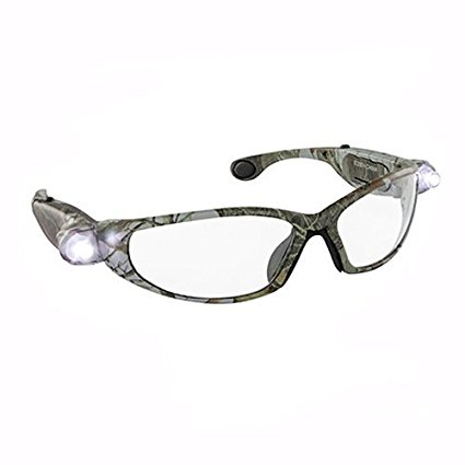 LED Inspectors Camo Safety Glasses, Green