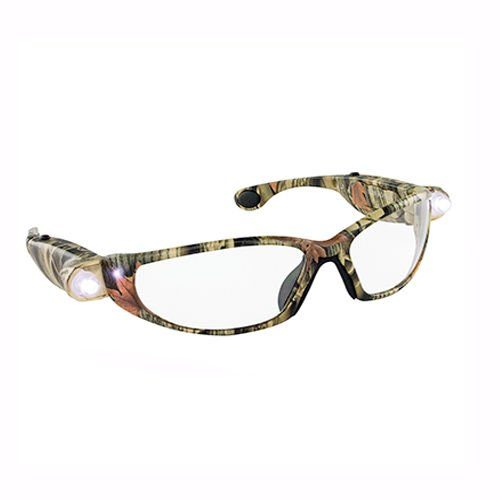 LED Inspectors Camo Safety Glasses, Tan
