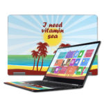 LENY71015-Vitamin Sea 15.6 in. Skin Decal Wrap for Lenovo Yoga 710 - Vitamin Sea