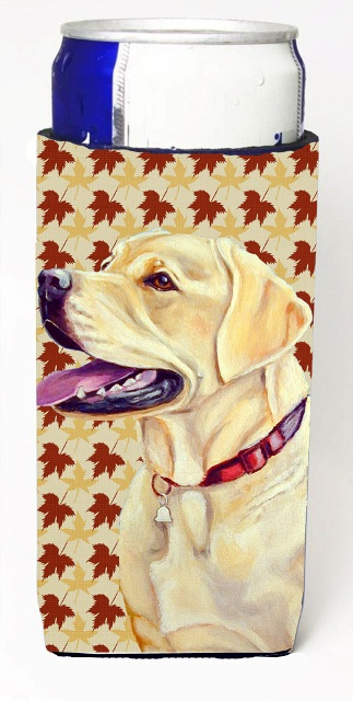 LH9113MUK Labrador Fall Leaves Portrait Michelob Ultra s For Slim Cans - 12 oz.