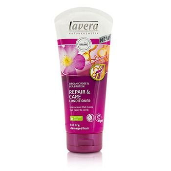 Lavera 207773 6.6 oz Organic Rose & Pea Protein Repair & Care Conditioner for Dry & Damaged Hair