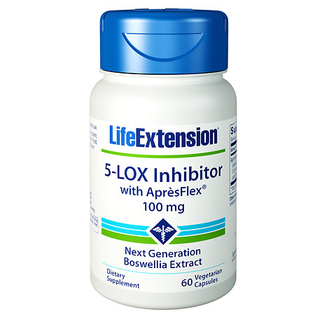 Life Extension 5-LOX Inhibitor with ApresFlex 100mg, Veggie Caps - 60.0 ea