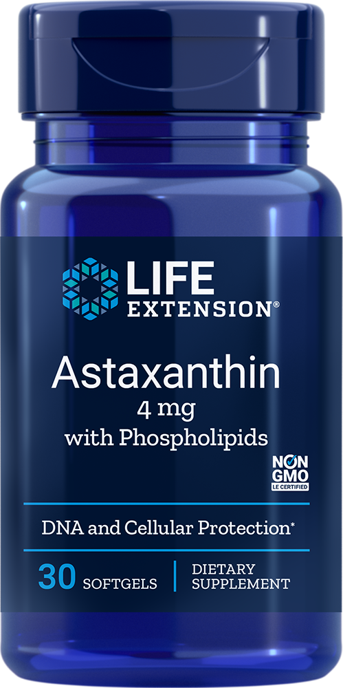 Life Extension Astaxanthin with Phospholipids - 4 mg (30 Softgels)
