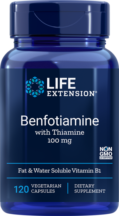 Life Extension Benfotiamine with Thiamine, 120 VeggieC - 100 mg
