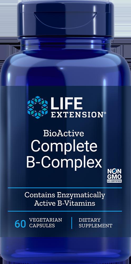 Life Extension BioActive Complete B-Complex, 60 VeggieC