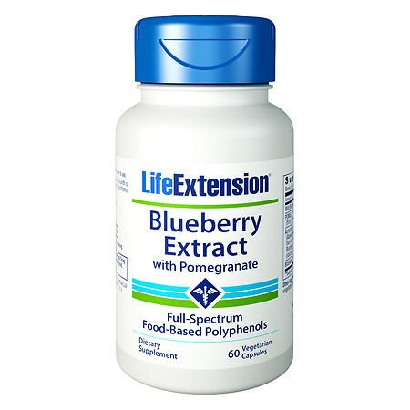 Life Extension Blueberry Extract, Vegetarian Capsules - 60.0 ea
