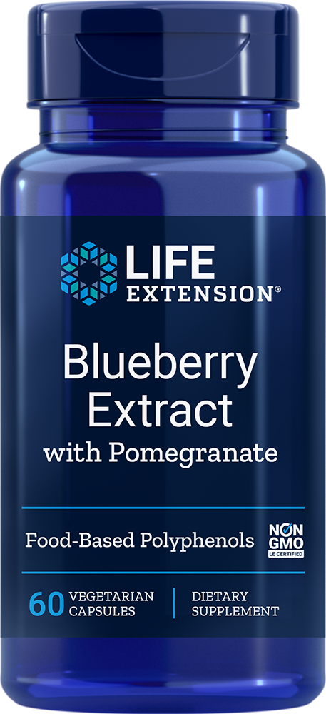 Life Extension Blueberry Extract with Pomegranate, 60 VeggieC