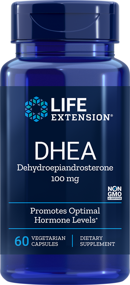 Life Extension DHEA - 100 mg (60 Vegetarian Capsules)