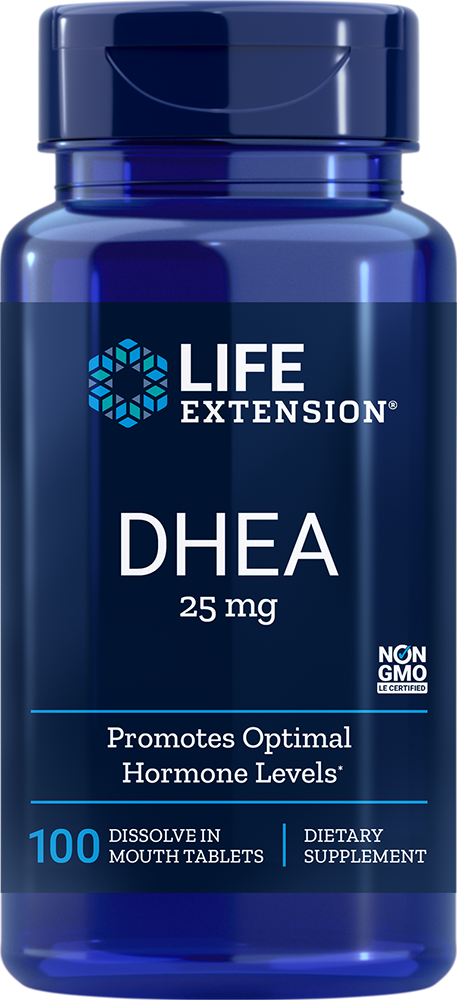Life Extension DHEA - 25 mg (100 Dissolve-In-Mouth Tablets)