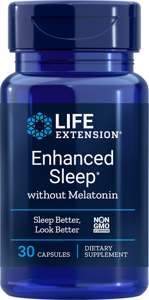 Life Extension Enhanced Sleep without Melatonin, 30 C