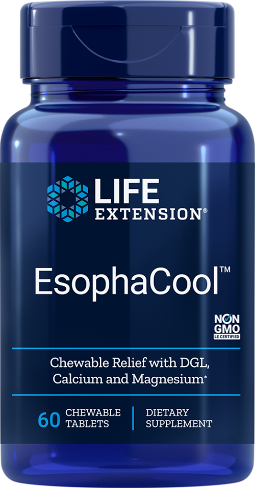 Life Extension EsophaCool™ (60 Chewable Tablets)
