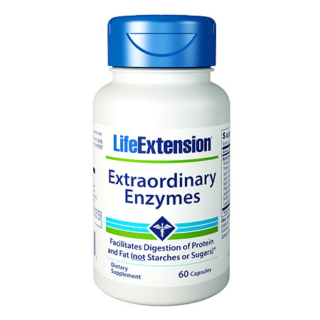 Life Extension Extraordinary Enzymes, Capsules - 60.0 ea