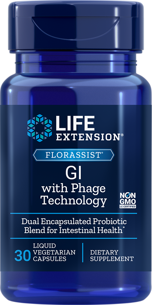 Life Extension FLORASSIST GI w/ Phage Technology, 30 Liq VeggieC