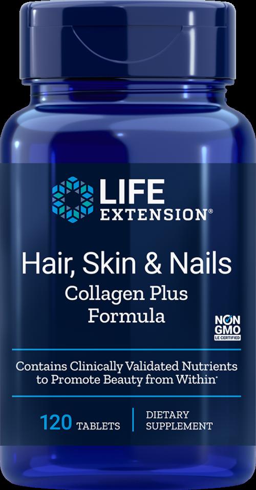 Life Extension Hair, Skin & Nails Collagen Plus Formula, 120 Tabl
