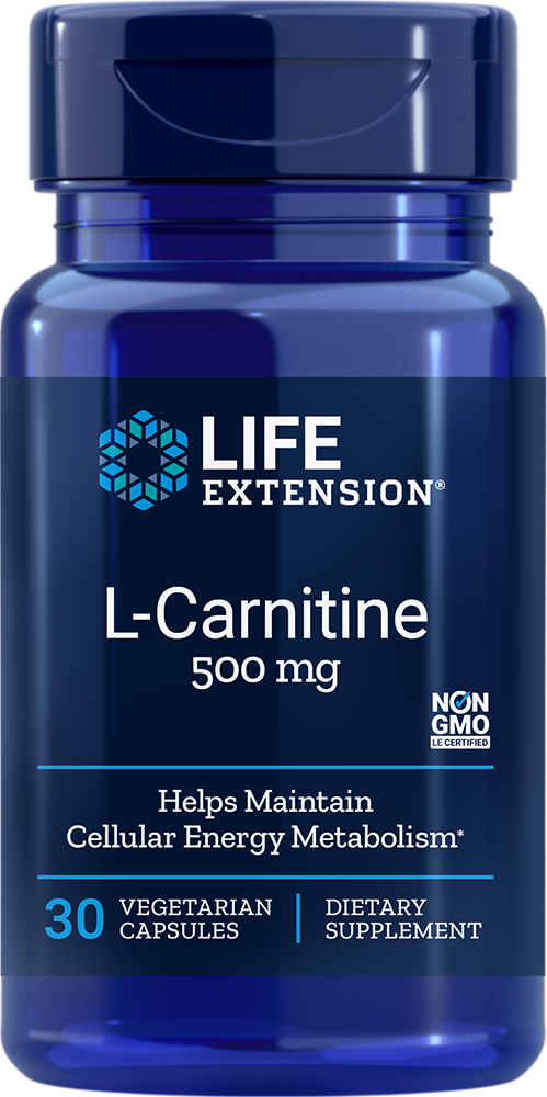 Life Extension L-Carnitine - 500 mg (30 Vegetarian Capsules)