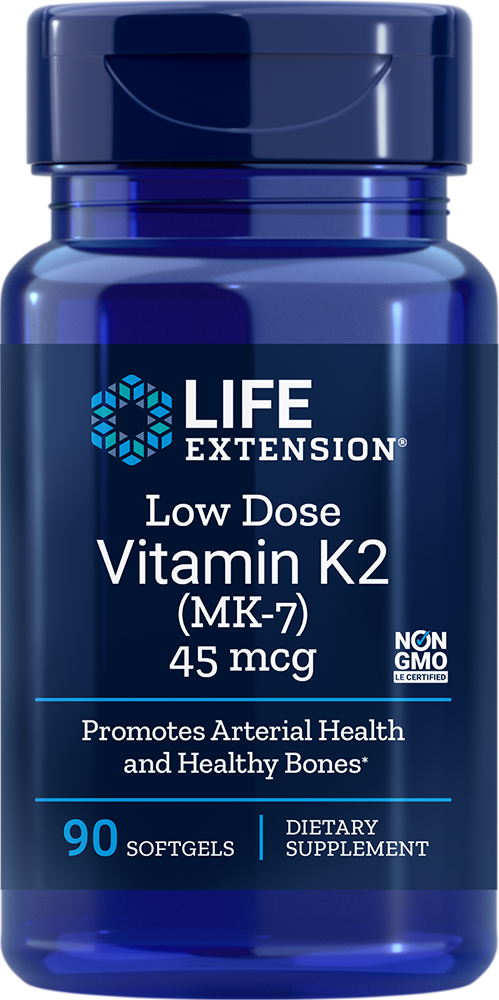Life Extension Low Dose Vitamin K2 - 45 mcg (90 Softgels)