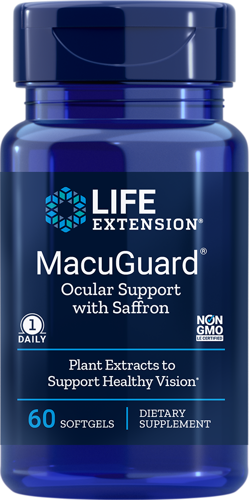 Life Extension MacuGuard Ocular Support with Saffron, 60 S
