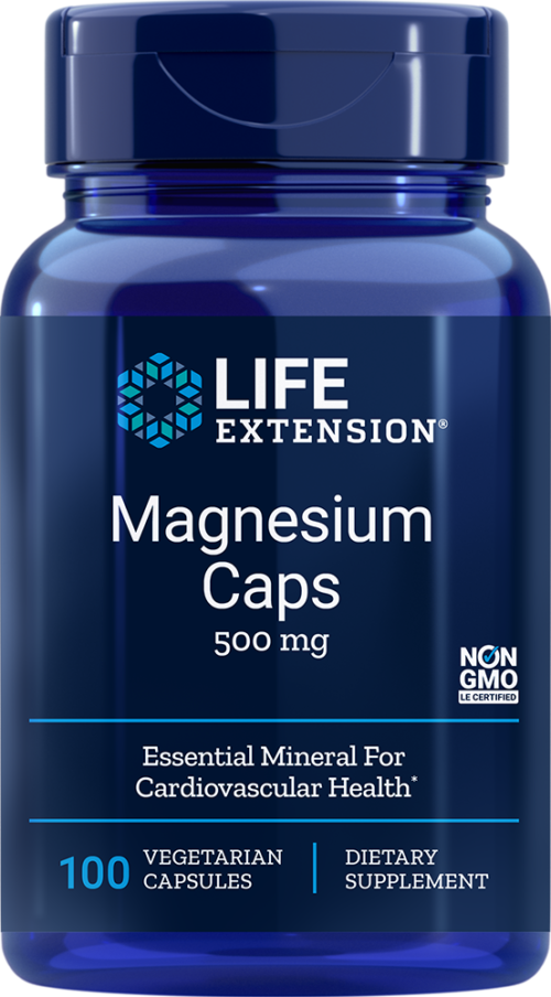 Life Extension Magnesium - 500 mg (100 Vegetarian Capsules)
