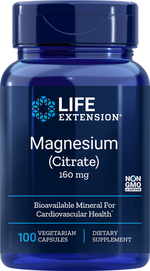 Life Extension Magnesium, Citrate, 100 VeggieC - 160 mg