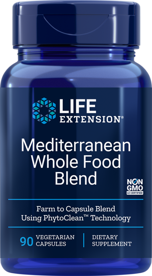 Life Extension Mediterranean Whole Food Blend, 90 VeggieC
