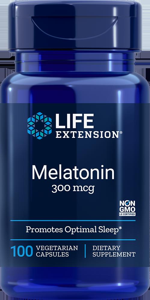 Life Extension Melatonin - 300 mcg (100 Vegetarian Capsules)