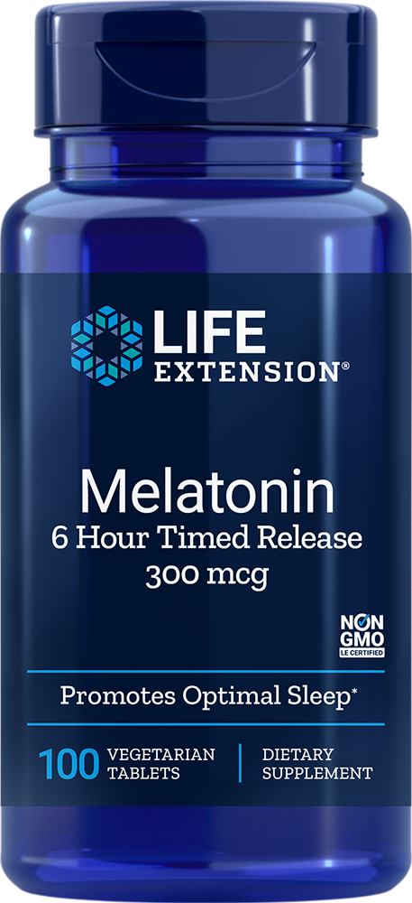 Life Extension Melatonin 6 Hr Timed Release, 100 VeggieT - 300 mcg