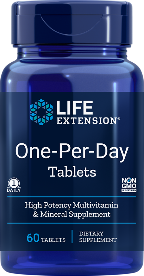 Life Extension One-Per-Day Tablets, 60 Multivitamin tablets