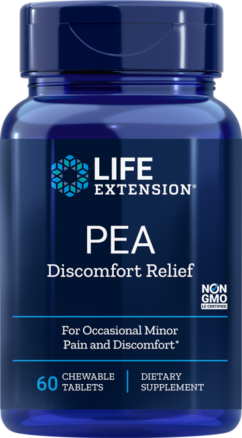Life Extension PEA Discomfort Relief (60 Chewable Tablets)