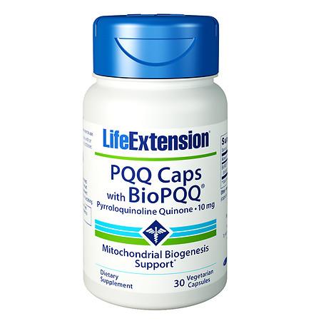 Life Extension PQQ Caps with BioPQQ, 10mg, Vegetarian Capsules - 30.0 ea
