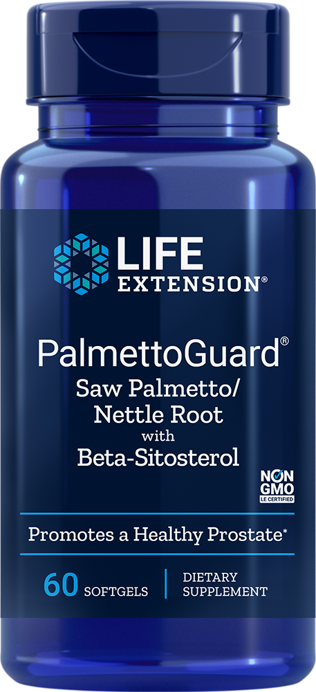 Life Extension PalmettoGuard Saw P/Nettle R Form w/ Beta-S, 60 S