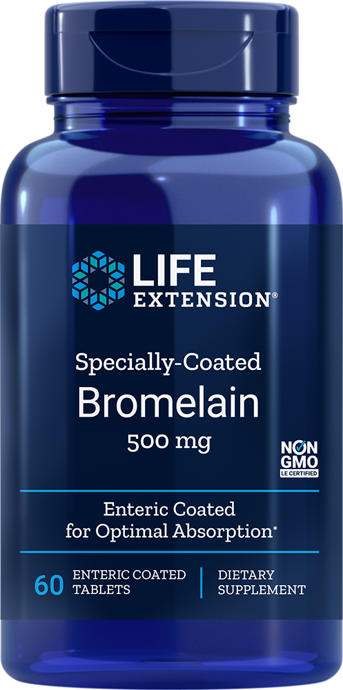 Life Extension Specially-Coated Bromelain, 60 Ent-CoatT - 500 mg