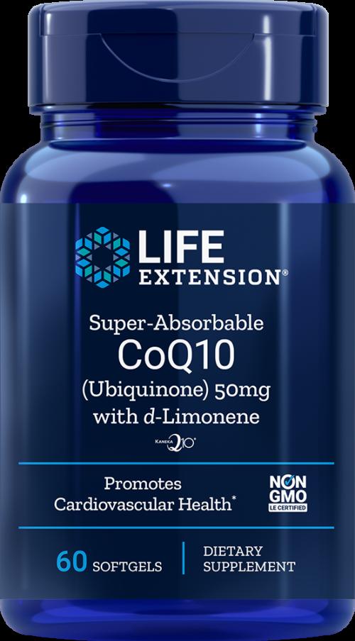 Life Extension Super-Abs CoQ10 w/ d-Limonene, 60 S - 50 mg