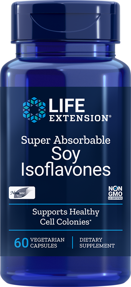 Life Extension Super Absorbable Soy Isoflavones, 60 VeggieC