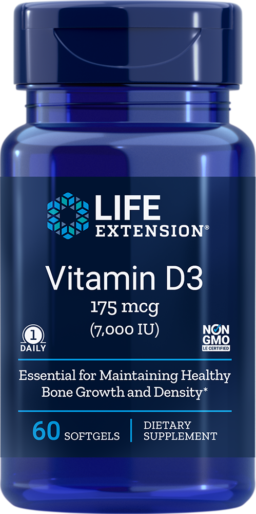 Life Extension Vitamin D3 - 7000 IU (60 Softgels)