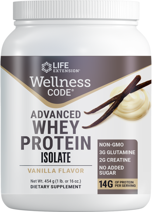 Life Extension Wellness Code Advanced Whey Protein Isolate Van Fl
