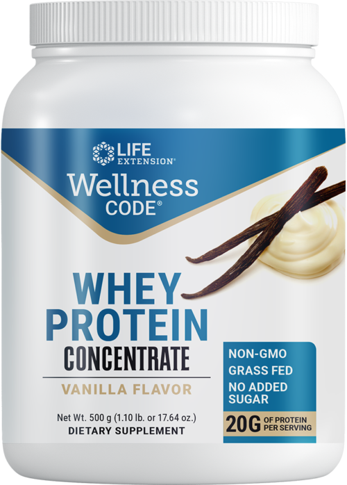 Life Extension Wellness Code Whey Protein Concentrate Vanilla Fl